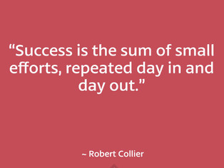 Small steps lead to big results