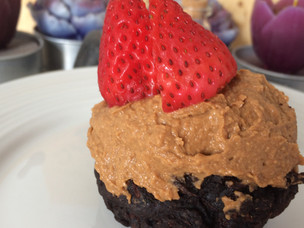 Zucchini Muffins with PB Frosting