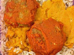 Chicken Meatballs in Jerk Tomato Sauce