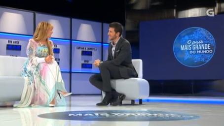 """Isabel Blanco convidada no """"País Máis Grande do Mundo"""" (programa TVG, 2015)"""