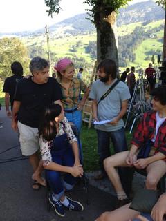 """Foto de rodaje de """"Dos Francos, 40 Pesetas"""" de Carlos Iglesias (Suiza)"""