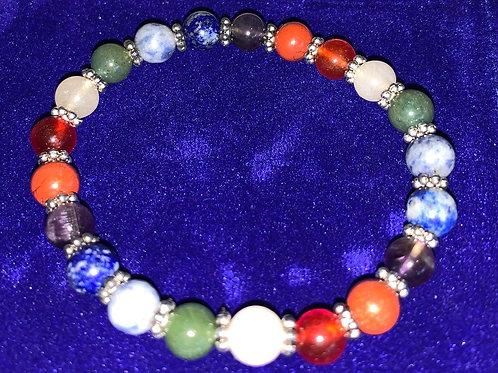 7 Chakra Gem Stone Bracelet