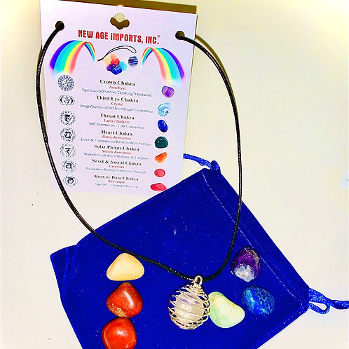 7 Chakra Gemstone Necklace Set