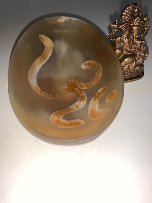 OM Ritual Bowl Made of Carved & Polished Horn