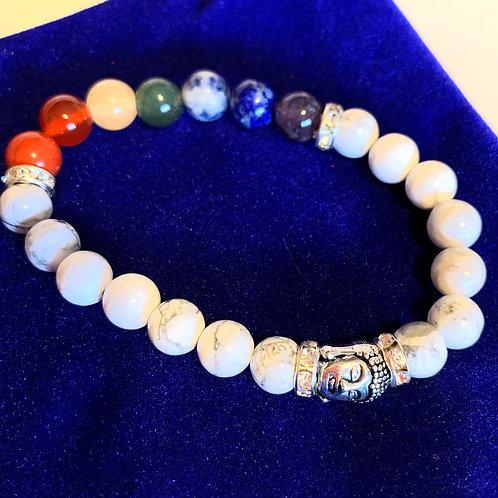 Howlite 7 Chakra Bracelet