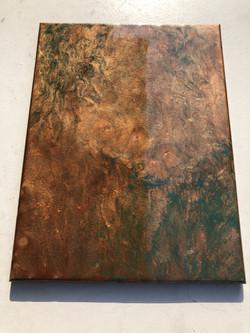Hammered Copper Verdigris