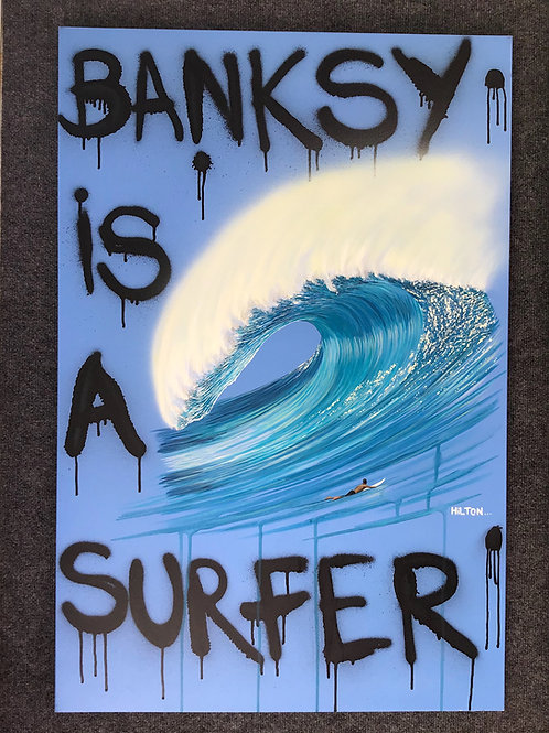 Banksy is a Surfer