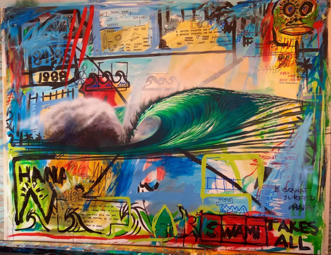 basquiat hana maui street art surf art jean-michel basquiat