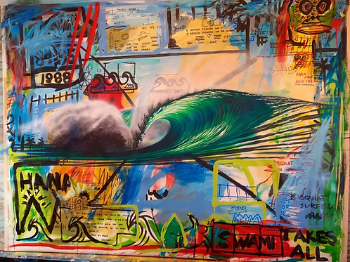 'Basquiat Surfed Hana'
