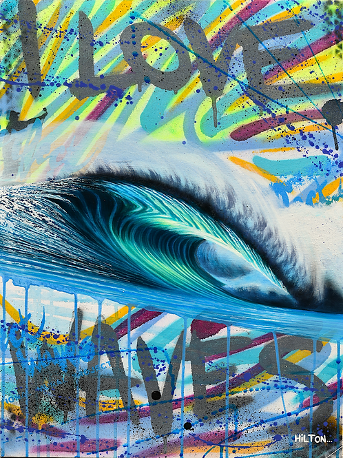 """Turquoise"" - I Love Waves Series"