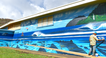 wave mural surf art ocean art wave art 101 perfect waves hilton alves muralist wyland marine life heather brown waikiki hawaii