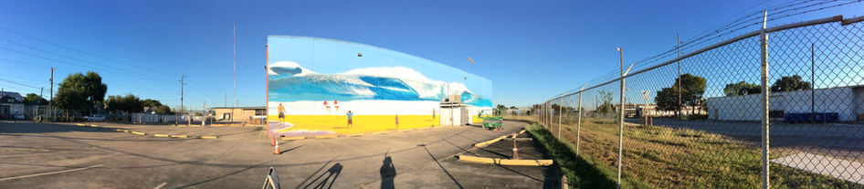HOUSTON WAVE MURAL