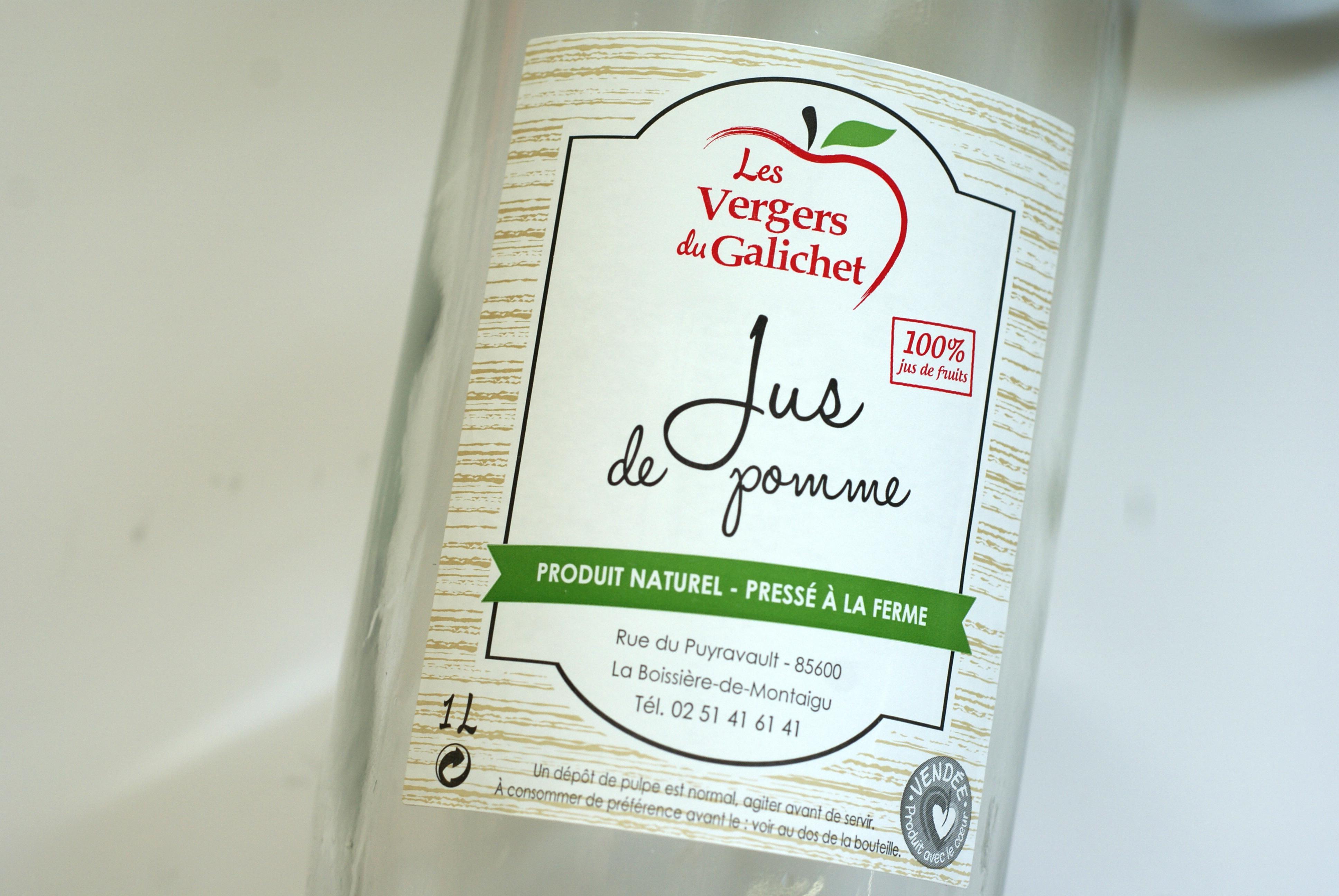 Etiquette jus de pomme Le Galichet