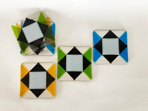Diamond, Rhombic, coasters (sold)