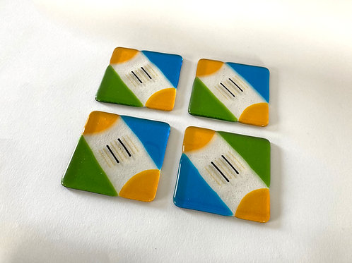 Four way square one, coasters