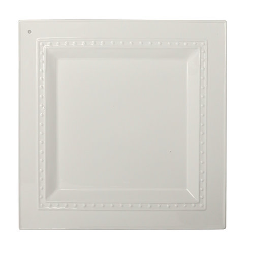 Stoneware square platter