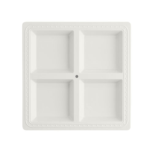 Melamine square sectioned server