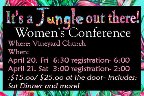 It's a Jungle Out There Women's Conference Ticket