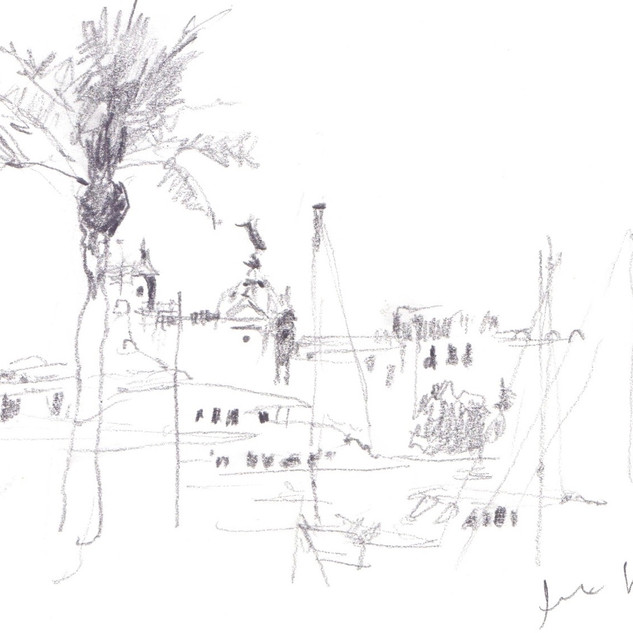 Port of Barcelona sketch