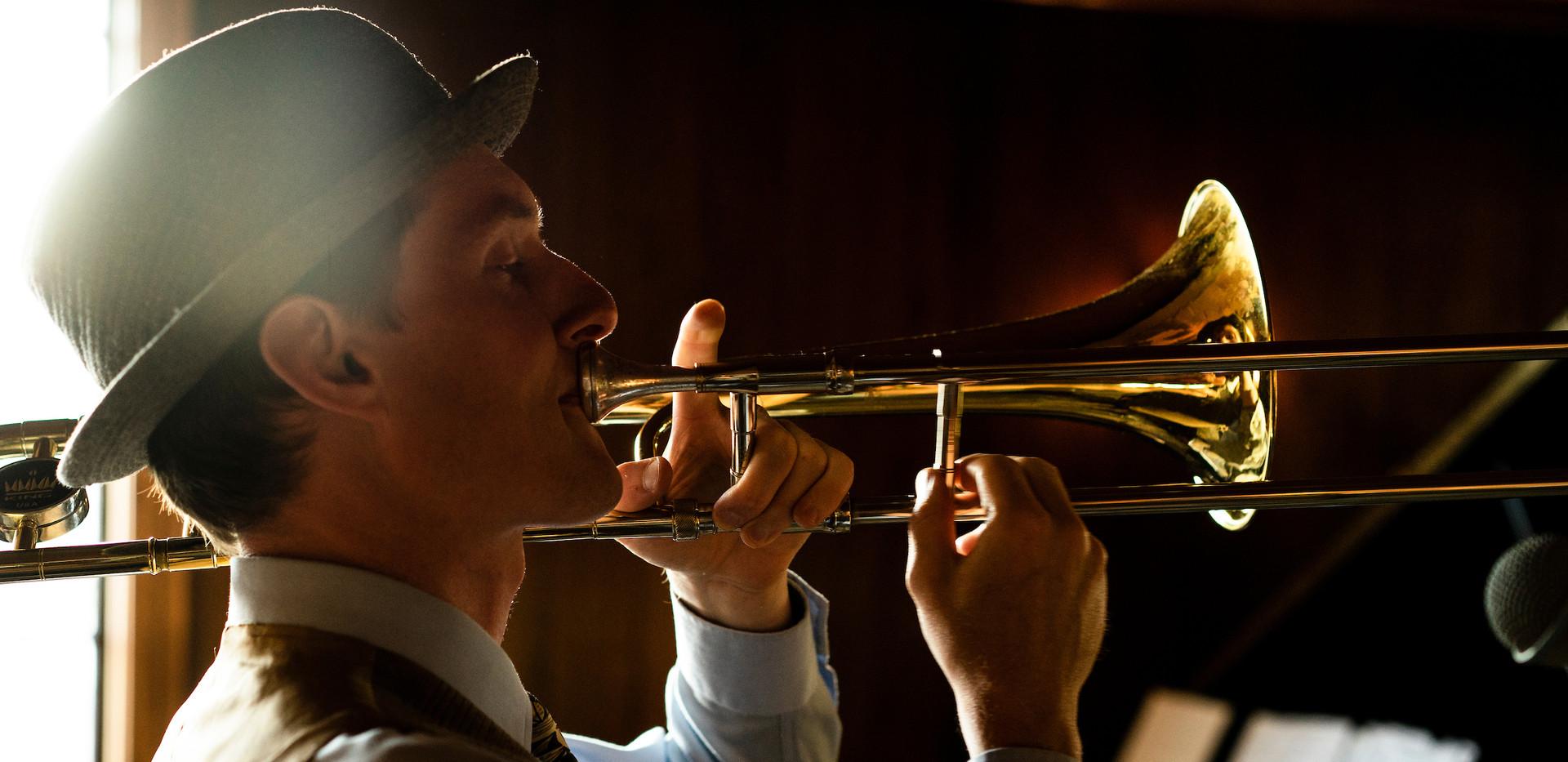 James Plays Trombone