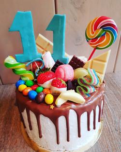 Candy drip taart