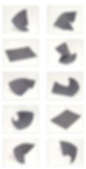 Photographies froissées puis photographiées    espace de la photographie de trois à deux dimensions et l'inerse