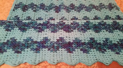 Medium Teal & Variegated Blanket - Grann