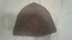 Grey Adult Size Winter Hat - Simple Crochet
