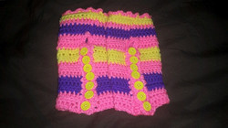 Short Pink Fingerless Gloves - Simple Crochet