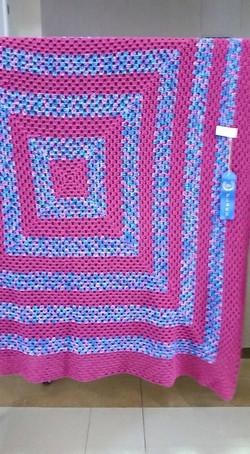 Large Hot Pink & Variegated Blanket - Gr