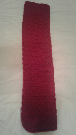 Small Red Scarf  - Simple Crochet