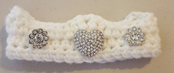 Infant Crown with Jewels - White