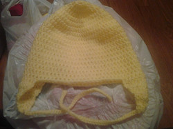 Yellow Adult Size Winter Hat - Simple Crochet.jpg