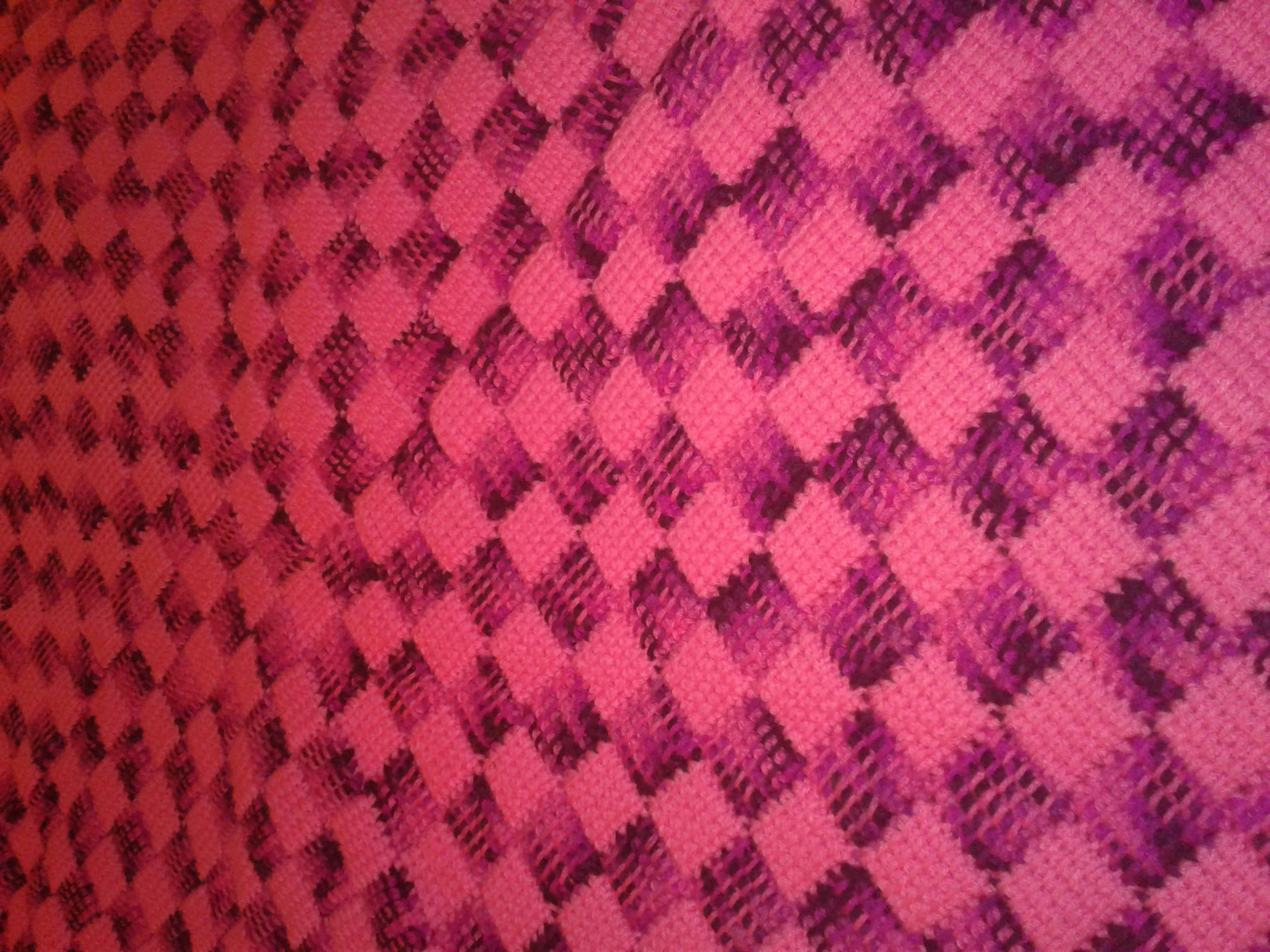 Medium Pink & Variegated Blanket - Entre
