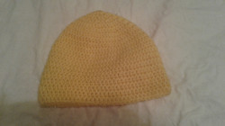 Yellow Adult Size Winter Hat (soft yarn) - Simple Crochet