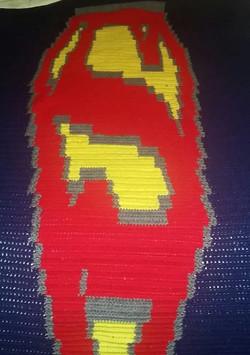 Large Superman Blanket - Tunisian Croche