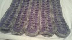 Adult Wrap (Shawl) - Gray & Purple Rounds