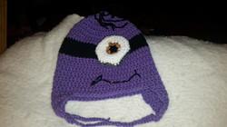 Despicable Me Adult Size Winter Hat (Purple & 1 Eye) - Simple Crochet.jpg