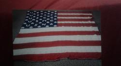 Large US Flag Blanket - Granny Square St