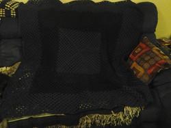 Large Dark Green & Black Blanket - Grann