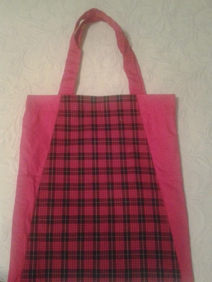 Large Red Checkered Handbag - Simple Sewing.jpg