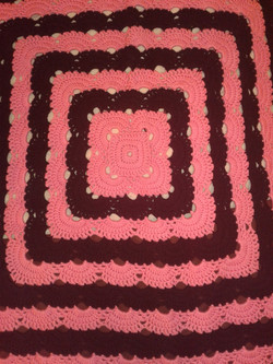 Medium Pink & Black Blanket - Virus Stit