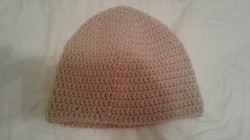 Tan Adult Size Winter Hat - Simple Crochet