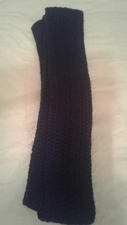 Adult Blue Scarf  - Simple Crochet
