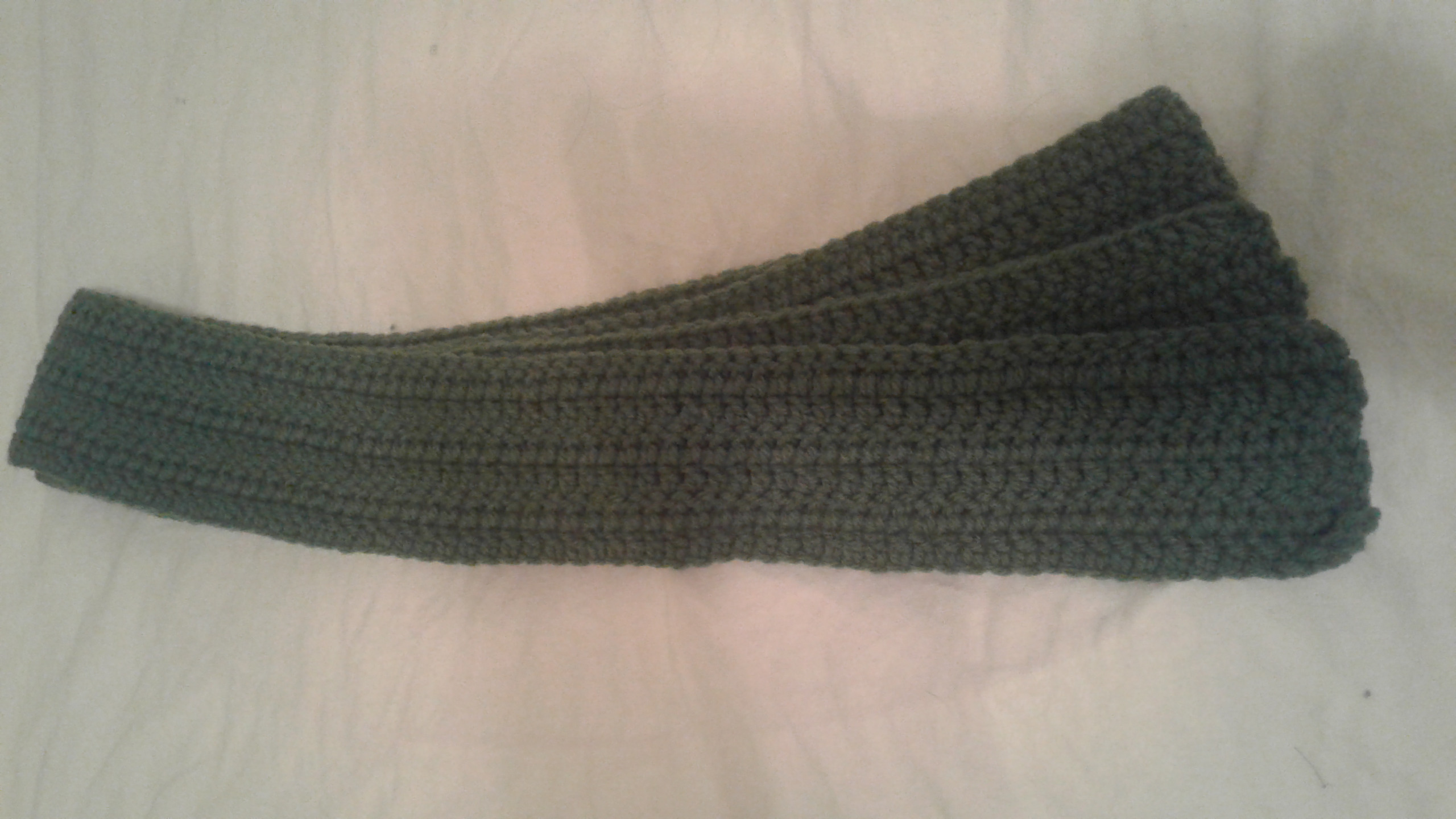 Adult Olive Scarf  - Simple Crochet