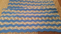 Medium Light Blue Blanket - Ripple Stitc