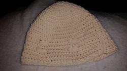 Cream Adult Beanie Hat with Seashells - Simple Crochet.jpg