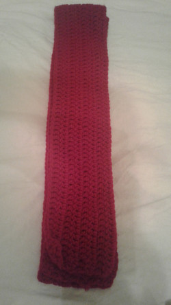Adult Red Scarf  - Simple Crochet