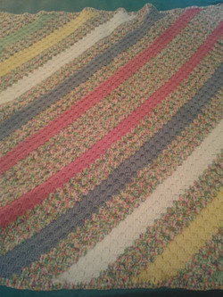 Medium Ranibow Color Blanket - Corner 2