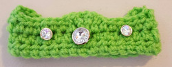 Infant Crown with Jewels - Lime Green